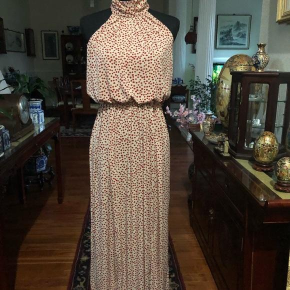 Enfocus Studio Dresses & Skirts - Long polka dot halter dress